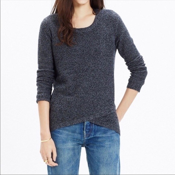 Madewell Feature Pullover Sweater Dark Grey